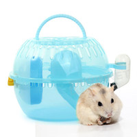 Wholesale Plastic House Cage with Exercise Wheel Toy cm for Rat Hamster Mouse Blue