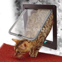 Wholesale Brand New Lockable Cat Flap Door Kitten Dog Pet Lock Heavy Duty suitable for any wall or door