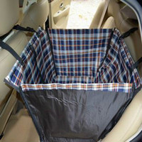Wholesale CSPtek TM Pet Dog Cat Double Layer Waterproof Hammock Car Back Seat Cover Protector Blue Orange Check