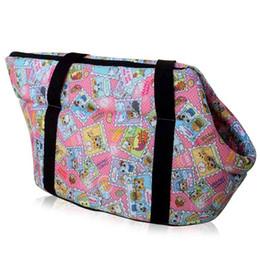 Wholesale-Pink Animal Portable Soft Pet Dog Cat Travel Carrier Tote Shoulder Bag Handbag bag for dogs pets EQC120