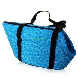 Wholesale-Blue Flowers Portable Pet Dog Cat Travel Carrier Tote Shoulder Bag Handbag S bag for dogs pets EQC125
