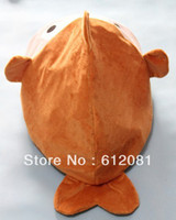 Wholesale new design cat bed cage toy fish shape with sound paper inside