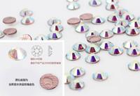 Wholesale SS20 MM Clear Crystal AB Hot Fix Luxury Rhinestones Strass Flatback Hotfix Stone For clothing Bridal Shoes