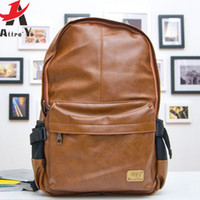 Wholesale Atrra Yo men s travel bags backpack school bags for men backpack schoolbags pu leather fashion travel bag LM0330ay