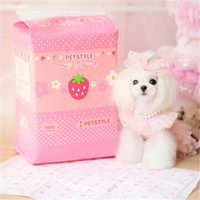 Wholesale Dog Suppliers Products For Dog Dog Cartoon Diapers Pet Daily Necessities Strawberry Yellow Duck Pattern Diapers bag
