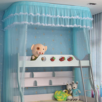 bedding pictures - Picture bed rail bed nets thicker bold stainless steel U shaped bracket retractable mosquito nets on the US peacekeeping poetry