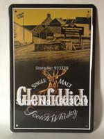 Cheap GLENFIDDICH Tin Sign Bar pub home Wall Decor Retro Metal Art Poster GF02 item
