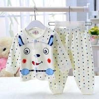 authentic brand clothing - Authentic children s underwear Sets cotton baby newborn baby underwear suits baby girl boy brand cartoon clothing