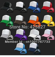 trucker hats - New Arrival Freeshipping Adjustable Adult Solid Casual Hats for New Classic Trucker Baseball Golf Mesh Cap Hat Colors