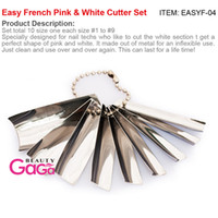 acrylic nail smile cutter - Sizes set Nail art Manicure Easy French Smile Acrylic Gel Pink amp White Cutter Set Q French Art Design Nail Tools