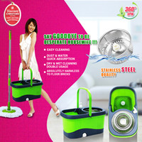spin mop - Portable car amp home use stainless pole High quality hand press degree spin dry magic mop rotating mop Hotsale