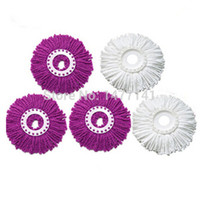 Wholesale Replacement upgraded purple Microfiber Spin Mop Refill Magic Clean Mop Head