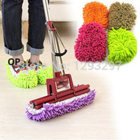 aluminum house number - Track Number Lazy Dust Cleaner Slipper Shoes Cover House Bathroom Floor Cleaning Mop QNen