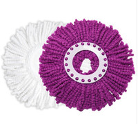 Wholesale Microfiber round spin Mop Head Refill For all Spin Magic Hurricane Mop Replacement J