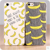 Cheap Wholesale-High Quality Fruit Banana Fashion Case Cover For Apple iPhone 5 5S Case Banana 5 Series Plastic Cover For Phone