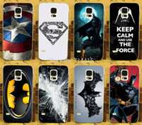 bat man logos - PC Cool D batman Bat Man SuperMan Super Man Logo freeshipping hard back print case cover For Samsung galaxy s5 S V i9600