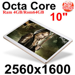 "Appel de 3g de tablette en Ligne-Vente en gros-10 ""tablette IPS Ecran 2560 * 1600 Octa Core MTK6592 3G 4G Appel téléphonique 4 Go / 64 Go Dual SIM 8.0MP Android 4.4 Bluetooth GPS Tablet"