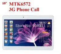 Gros-NOUVEAU! 10 pouces MTK6572 Dual Core 3G Phone Call tablet pc bluetooth GPS Wifi double caméra avec 2 Emplacement pour carte SIM 2G / 16GB 1024x600