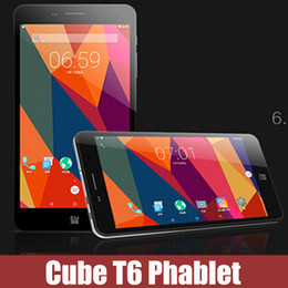 Wholesale Original cube T6 quot G G G Tablet PC Android phablet MTK8735 Quad Core Dual Cameras Dual SIM Cards GPS Bluetooth