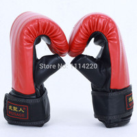 Wholesale New Brand Boxing Gloves Semi Finger Fighting Sandbag Gloves PU Leather MMA Gloves Boxe Free Combat Taekwondo Glove