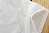 Wholesale Priced at direct Korean cute white embroidered crochet round neck short sleeved T shirt women s shirt Specials