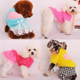 Wholesale Small Dog Pet Corn Pullovers Sweater Rose Heart Style Warm Puppy Clothes Apparel