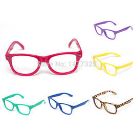 wholesale popular cute children decoration glasses frames baby kids eyeglass frames meters nails without lens glasses 11 colors eyeglass frames without