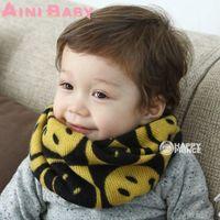 best knitting patterns - Best Quality Children Muffler Autumn Winter Warm Smiling Face Pattern Scarf Child Baby Scarf Boy Girl Knit Kids O Scarf