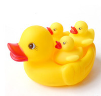 Cheap Wholesale-Classic Toys Rubber Duck Cute Lovely Funny Baby Bath Bathing Toys Rubber Race Foat Squeaky Ducks Yellow Duck Family