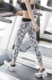 Wholesale Lycra Lepoard Women Sport Pants Leggings For Yoga Running Training Body building Fitness Clothing Gym Clothes Sports Legging d7