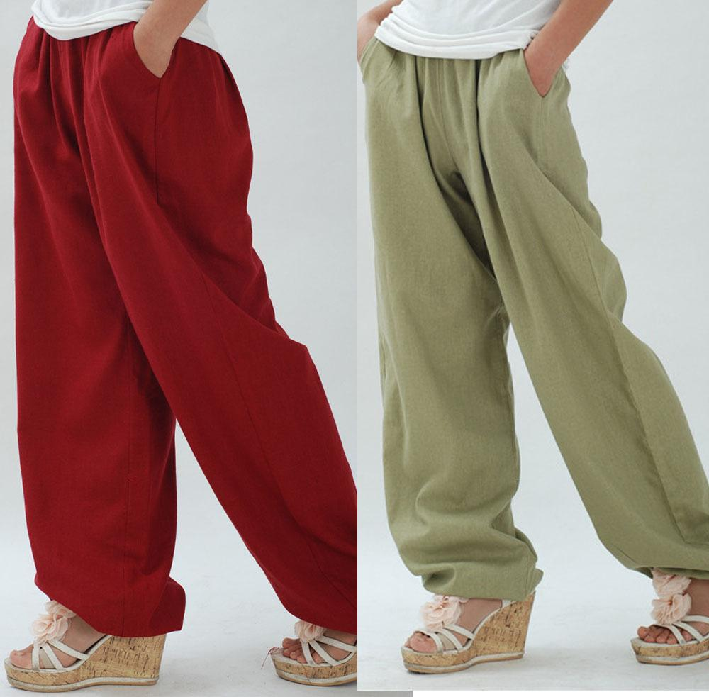 Best Wholesale Linen Comfy Linen Yoga Pants For Women Big Crotch ...