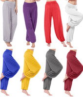 best yoga pants - Plus Size Loose Stretchy Elastic Waistband Fitness Harem Best Girls Hot Yoga Pants Wide Leg Pants Trousers for Women Dancewear