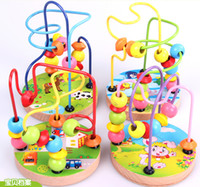 baby run game - baby wooden toys baby learning amp education bead run toy Math Rosary beads around the game natural quality of wood with box