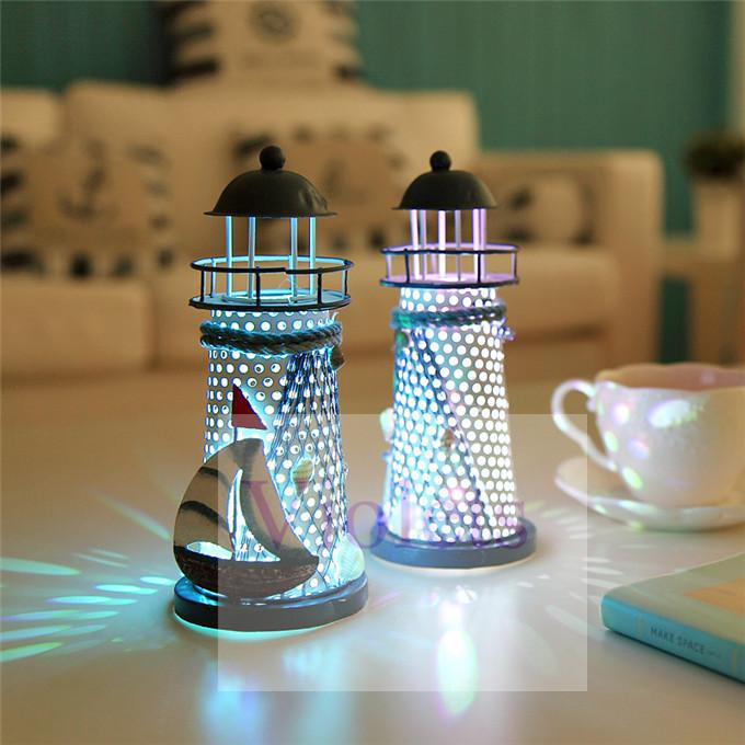 2017 Wholesale Night Light Handmade Home Decorations Items Europe And  Mediterranean Style Design Iron Materials Lighthouse Including Batteries  From Chouett. 2017 Wholesale Night Light Handmade Home Decorations Items Europe