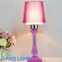 acrylic light shade - Modern table lamp multicolor acrylic light led light acrylic and ABS lamp shade bed room Office LED table lamp