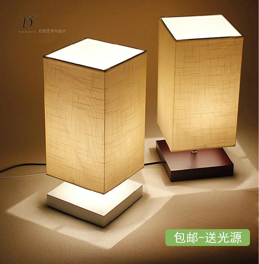 wholesale modern brief table lamps for bedroom bedside table lights woodfabric dimmable bedroom bedroom table lamps lighting