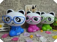 abs panda - colorful Panda with glasses night light