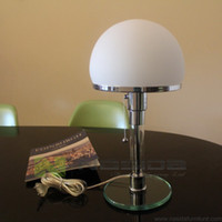 bauhaus table lamp - LP268 Office working lamp Glass base Wilhelm Wagenfeld Bauhaus WG24 Table Lamp bedroom Bedside desk lamp ornament on desk table