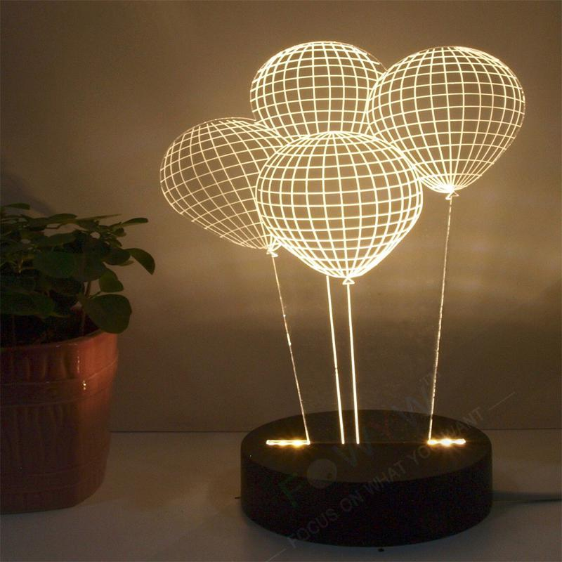 wholesale free shiping balloon 3d lamp lighting table lamps for bedroom luminaria de mesa bedside bedroom table lamps lighting