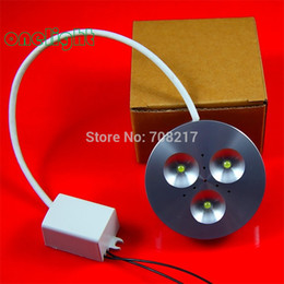 Wholesale Light Drawing Tables Wholesale - Wholesale-Wholesale High Quality 9W Dimmable led puck light 3x3W LED cabinet lamp Bright table lamp 700lm white warm white Free shipping
