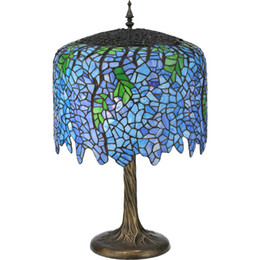 Wholesale-Classical Tiffany Stained Glass Living Room,Study Room Art Decorative Lamp,YSLTFT157,Free Shipping