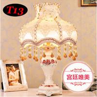 Al por mayor (WECUS) envío libre, lámpara de escritorio de la decoración europea del estilo, princesa habitación de lujo lámpara de mesa de noche, sin fuente de luz E27