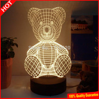 bear lampshade - Teddy Bear D Lighting acrylic table lamp abajur table lamp for bedroom lampshade luminaria de mesa Birthday Gift