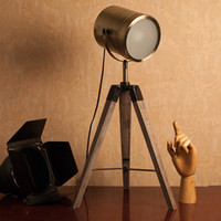 air force bedding - Newest Design PARIS RETRO Royal Air Force Wood tripod Table lamps Desk light Searchlight Bronze Color