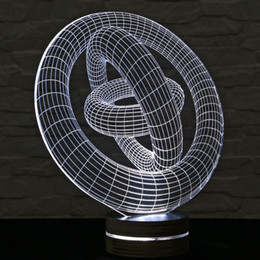 Wholesale New Generation Ring Nested D Table Light Lamp Kids Room Night Light lamparas de mesa Creative Gifts