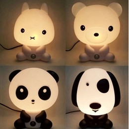 Wholesale Creative Panda Lamp Children Holiday Gifts Cartoon Dog Lamp Night Light Children Bedroom Bedside Lamp Small LED Panda Lamp
