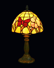 Wholesale-Tiffany Style Table Lamp With Butterfly Stained Glass Shade Lampfair Free Shipping TR08276