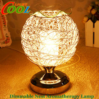 air purifier bulb - Dimmable Aromatherapy Nest lamp diffuser LED Night Light air Aroma Diffuser Air Purifier festival gift decoration