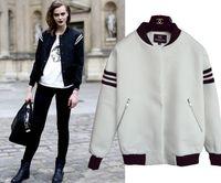 baseball outerwear - Good Quality New Autumn Women s Varsity Baseball Uniform Outerwear Silm Bomber Jacket Coats Black White Sports Jackets