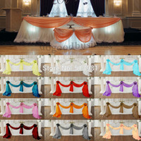 dyed fabric - M m Organza fabric Wedding Decoration table top curtain Party Chair Sash Bow Table Runner Swag table skirt